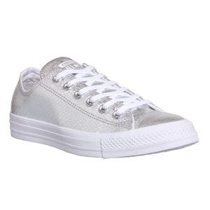 Converse Leather Silver Snakeskin All Star